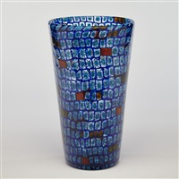 for venini, murrine glass vase by gianni versace