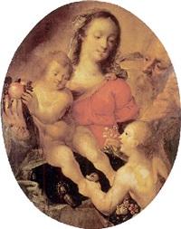 sainte famille avec un ange by flemish school-antwerp (18)