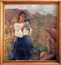 dziewczyna przy studni by michail nikolaievitch dobronravov