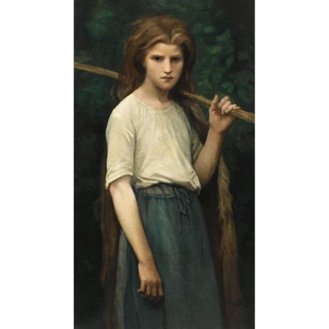 the shepherdess by jules breton