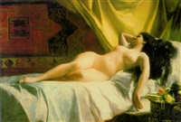 reclining nude by g. dalla noce