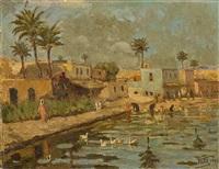 nil kıyısında kadınlar by halil pacha