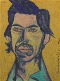 untitled (portrait of c.k. rajan) by surendran nair