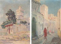 rue sidi ramdan (2 works) by gustave lemaitre