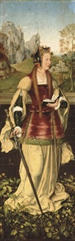 saint catherine of alexandria by master of frankfurt