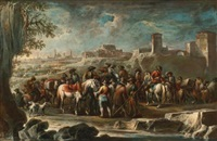 soldiers in a landscape by francesco simonini