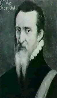 portrait presume de michel de l'hospital by frans pourbus (-unattributable)