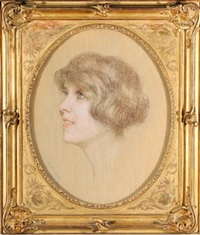 portrait de femme by marcel andre baschet