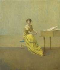 the music lesson by thomas wilmer dewing