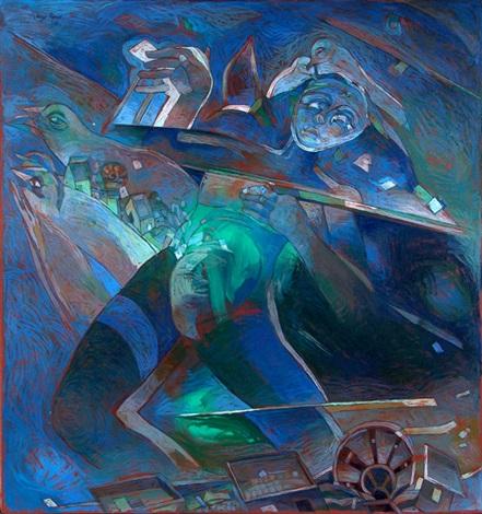 bebiendo azul by jorge ponce