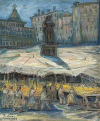 a market in rome by ragheb ayad