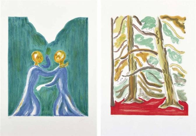 incontro alberi 2 works by virgilio guidi