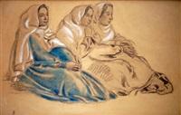 étude de figures assises pour l hommage à l'enfant jésus (study) by maurice denis