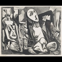 untitled (cubist figures in interior) by joseph vogel