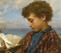 the young yachtsman by sophie anderson