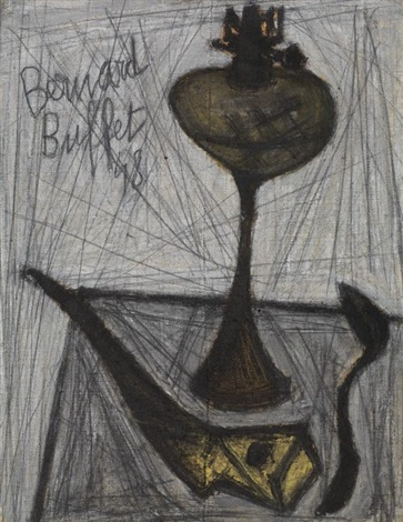 nature morte à la lampe à pétrole by bernard buffet