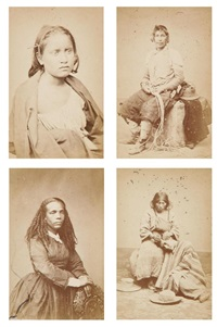 types et portraits indiens, pérou (4 works) by hermanos courret