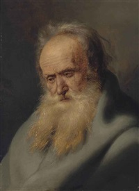 tronie of an old man by jan lievens