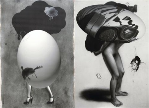 reprodyptic diptych by ronald ventura