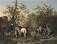 a country picnic by wouter verschuur the elder