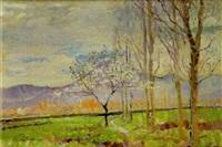paisaje con almendro by rafael llimona benet