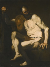 hercules at rest (collab. w/workshop) by jusepe de ribera