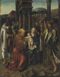 the adoration of the magi by master of the antwerp adoration
