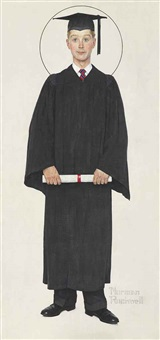 boy graduate by norman rockwell