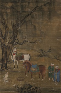 饮马图 (watering the horses) by hu cong