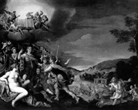 an allegory with apollo and other olympian gods by lucas de heere