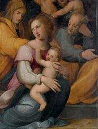 sacra famiglia con sant'anna by francesco del brina