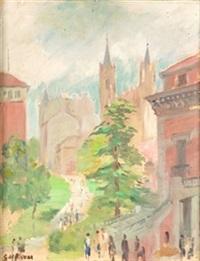 museo del prado con la iglesia de los jerónimos by gerardo de alvear