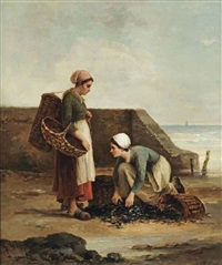 two fisher women by philip lodewijk jacob frederik sadée