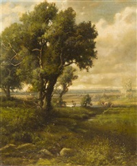 landscape with cattle by patrick vincent berry