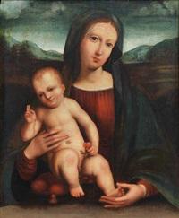 madonna con bambino con ciliegie in mano by giulio & giacomo francia