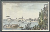 the fortress of schlisselburg, near st. petersburg by giacomo quarenghi