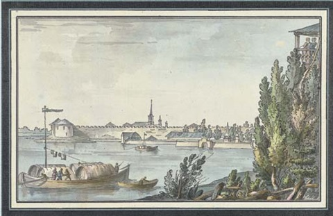 the fortress of schlisselburg near st petersburg by giacomo quarenghi