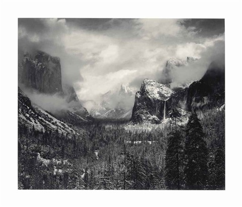 Clearing Winter Storm, Yosemite National Park by Ansel ... Ansel Adams Clearing Winter Storm Yosemite