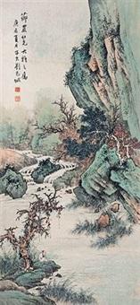 山间垂钓图 by liu zijiu