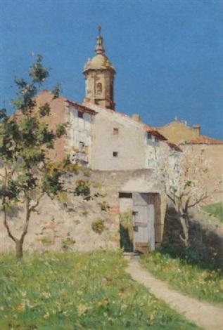 a sunlit village by h de giuja
