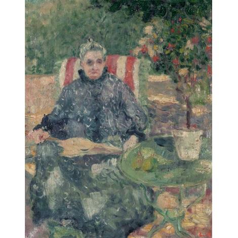 femme au jardin by louis valtat