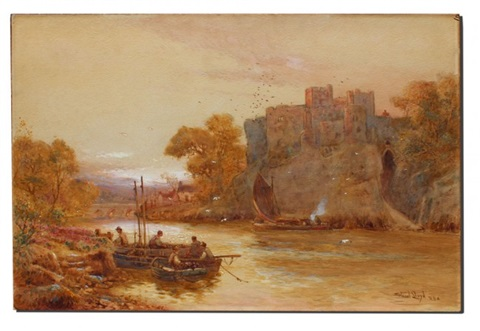 chepstowe castle monmouthshire by walter stuart lloyd