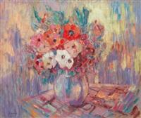anémones dans une vase by henri lebasque