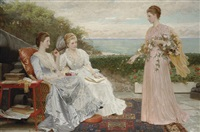 the ramparts, walmer castle by charles edward perugini