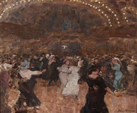 from a dance hall in paris by julius paulsen