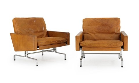 pk 31 armchairs pair by poul kjaerholm