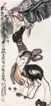 少女与鹿 (girl and deer) by liu han
