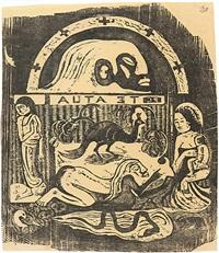 te atua - les dieux by paul gauguin