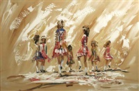 irish dancers by lorna miller