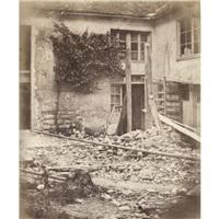 maison et cour en travaux by henri-victor regnault